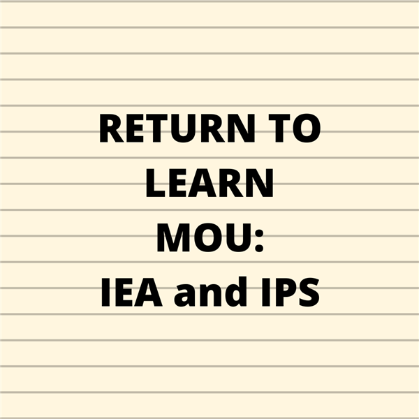 Return to Learn Memorandum of Understanding