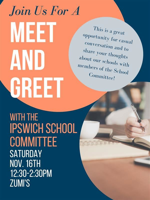 Save the Date: School Committee Meet and Greet